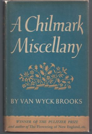 A Chilmark Miscellany. Van Wyck Brooks