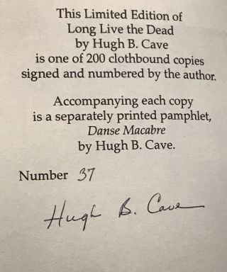 Long Live the Dead; Tales From Black Mask