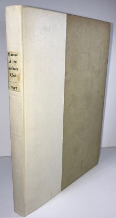 Manual of the Author's Club - 1917