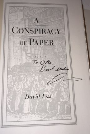 A Conspiracy of Paper(Association Copy from the Personal Collection of Otto Penzler)