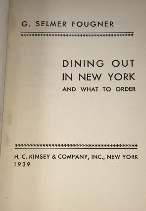 Dining Out in New York