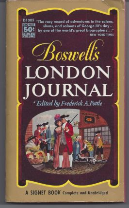 Boswell's London Journal. James Boswell, Editior Frederick A. Pottle