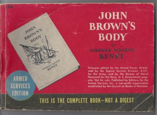John Brown's Body - Armed Services Edtiion. Stephen Vincent Benet