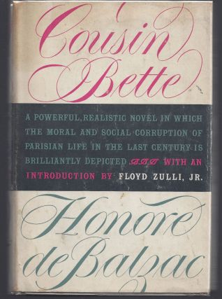 Cousin Bette - Modern Library 299. Honore de Balzac