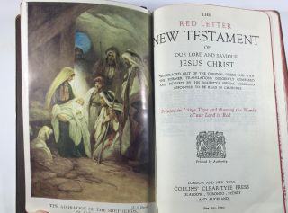The Red Letter New Testament of Our Lord anf Saviour Jesus Christ